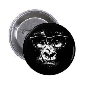 Glasses Gorilla 6 Cm Round Badge