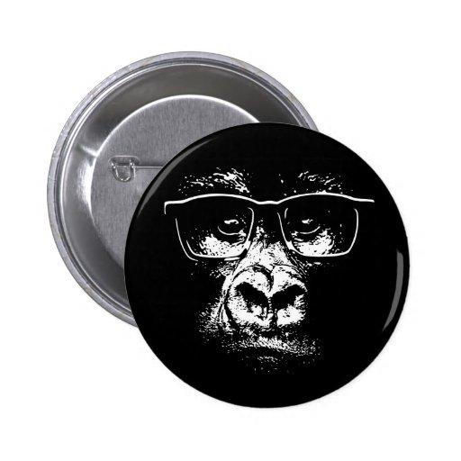 Glasses Gorilla Buttons