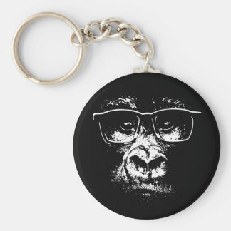 Glasses Gorilla Key Ring