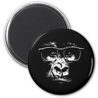 Glasses Gorilla Magnet