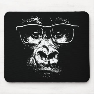 Glasses Gorilla Mouse Mat