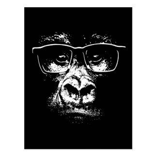 Glasses Gorilla Postcard