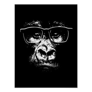 Glasses Gorilla Poster