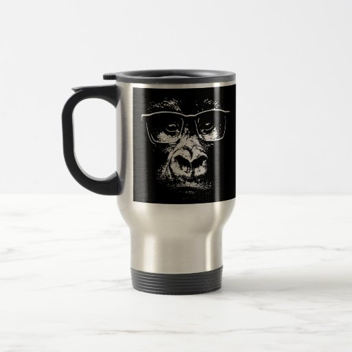 Glasses Gorilla Stainless Steel Travel Mug