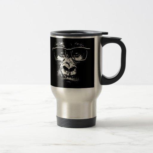 Glasses Gorilla Stainless Steel Travel Mug