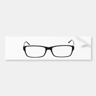 Glasses - Nerd Bumper Sticker