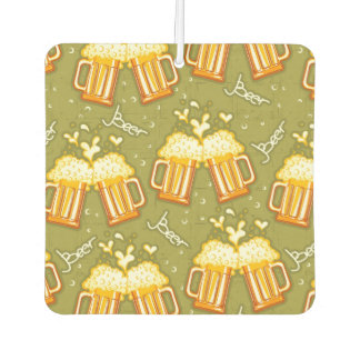 Glasses Of Beer Pattern Car Air Freshener