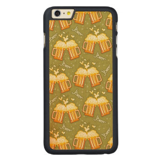 Glasses Of Beer Pattern Carved® Maple iPhone 6 Plus Case