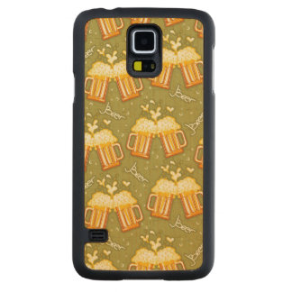 Glasses Of Beer Pattern Maple Galaxy S5 Slim Case