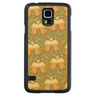 Glasses Of Beer Pattern Maple Galaxy S5 Slim Case