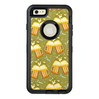 Glasses Of Beer Pattern OtterBox Defender iPhone Case