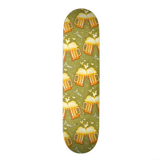 Glasses Of Beer Pattern Skate Deck