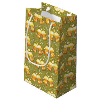 Glasses Of Beer Pattern Small Gift Bag