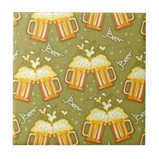 Glasses Of Beer Pattern Tile