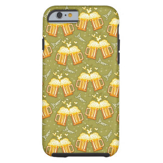Glasses Of Beer Pattern Tough iPhone 6 Case
