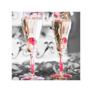 Glasses of Champagne Canvas Print