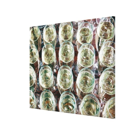 Glasses of Champagne on a table at a celebration Gallery Wrapped Canvas