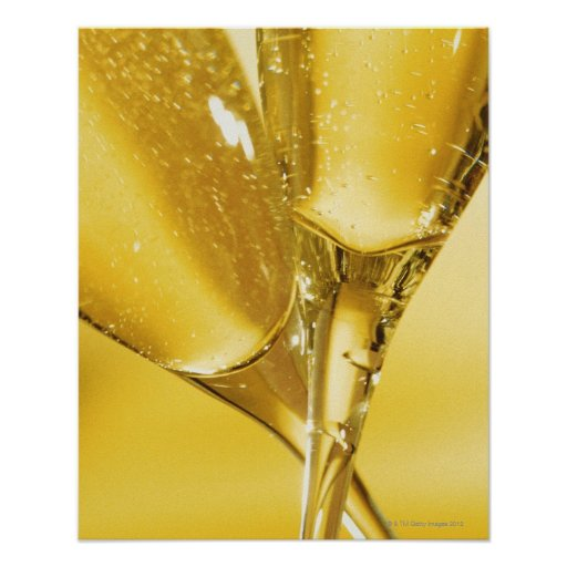 Glasses of Champagne Poster