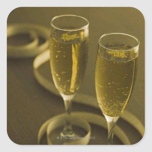 Glasses of champagne stickers