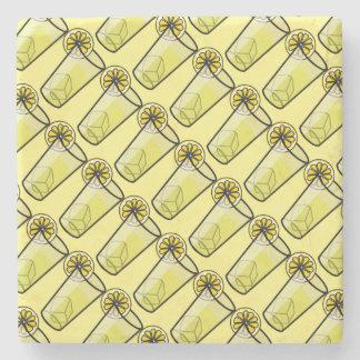 Glasses of Lemonade Stone Beverage Coaster