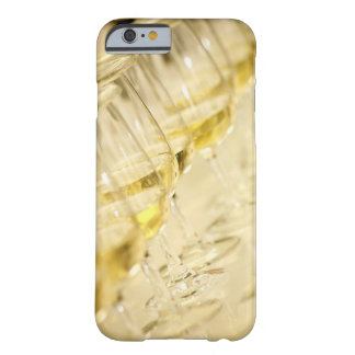 Glasses of white wine for wine tasting, close up barely there iPhone 6 case