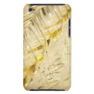 Glasses of white wine for wine tasting, close up iPod touch case