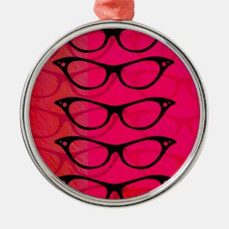 Glasses Silver-Colored Round Decoration