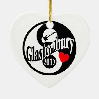 Glastonbury 2013 ceramic heart decoration