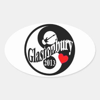 Glastonbury 2013 oval sticker