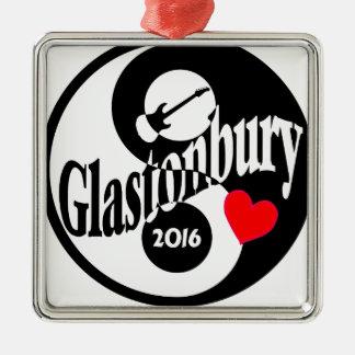 Glastonbury 2016 Silver-Colored square decoration