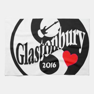 Glastonbury 2016 tea towel