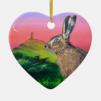 Glastonbury Hare Christmas Ornament