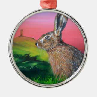 Glastonbury Hare Christmas Ornament