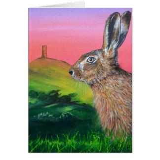 Glastonbury Hare Greeting Card