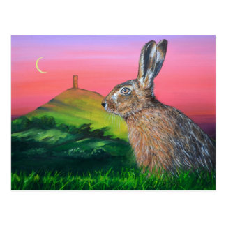 Glastonbury Hare Postcard