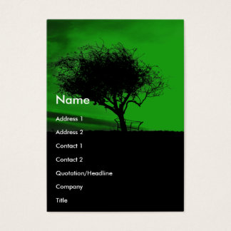 Green hills business cards business card printing zazzle glastonbury hawthorn tree on hill green black business card reheart Choice Image