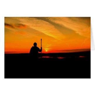 Glastonbury Sunrise Card