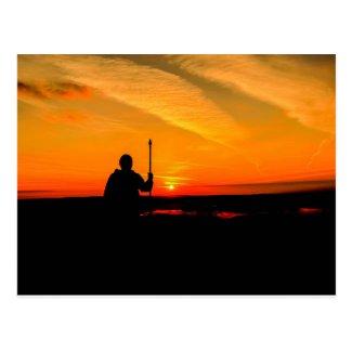 Glastonbury Sunrise Postcard