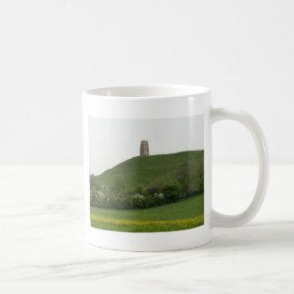 Glastonbury Tor Basic White Mug