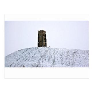 Glastonbury Tor in Winter Postcard