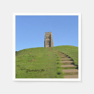 Glastonbury Tor Somerset England Photo Disposable Serviettes