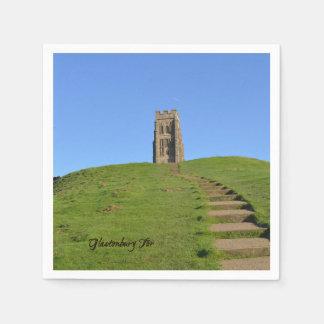 Glastonbury Tor Somerset England Photo Disposable Serviettes