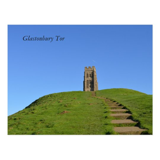 Glastonbury Tor Somerset England Photo Postcard