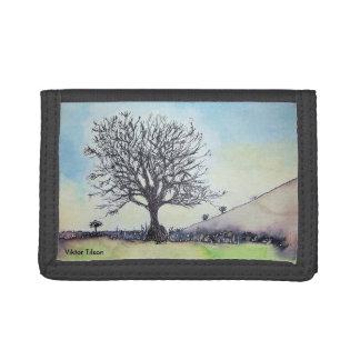 Glastonbury Tree by Viktor Tilson Tri-fold Wallet