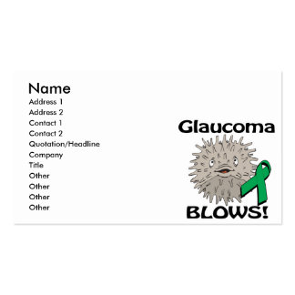 Glaucoma Blows Awareness Design Pack Of Standard Business Cards