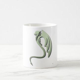 Glaurung the Metallic Green Dragon Basic White Mug