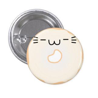 Glazed Cat Donut Button Stretched