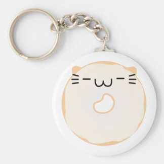 Glazed Cat Donut Keychain
