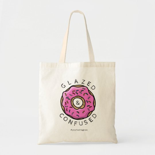 Glazed & Confused Pink Sprinkle Doughnut Tote