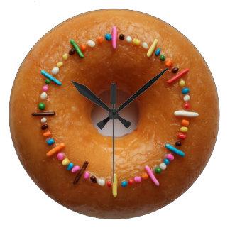 Glazed Donut Sprinkles Clock
